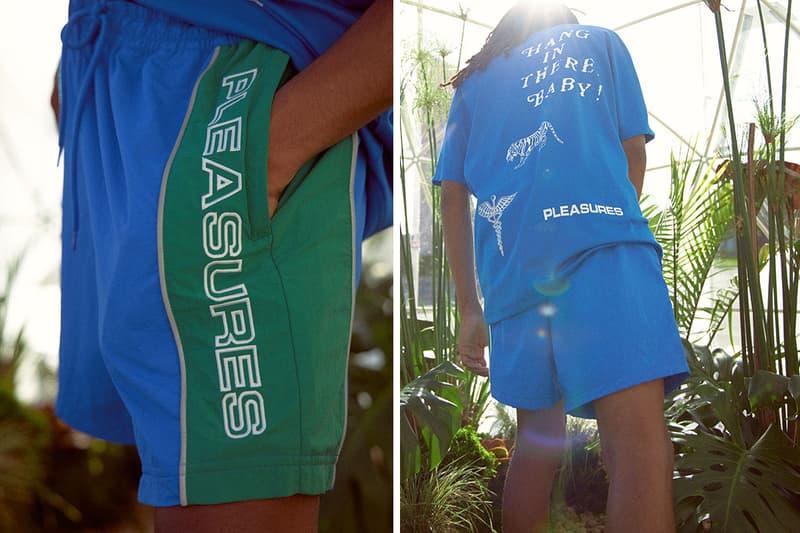 PLEASURES Reebok Fall Winter 2019 Capsule Aztrek Club C 85 Release Vector Unisex T-Shirt Anorak Woven Shorts Pants Alex James