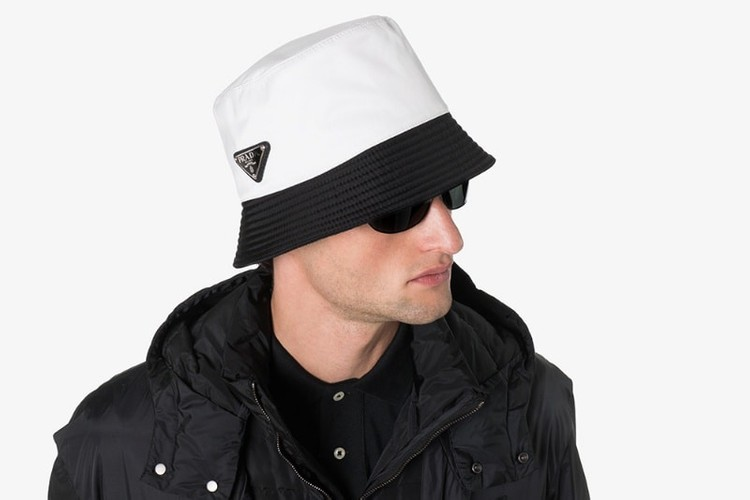 d642d3b5 Browns Fashion Drops Prada's Two-Tone Bucket Hat in Black & White