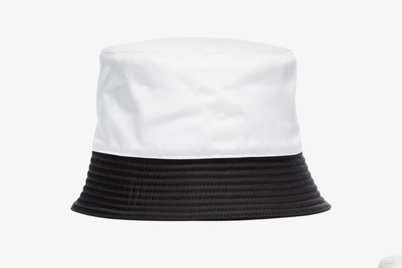 prada bucket hat two tone browns fashion