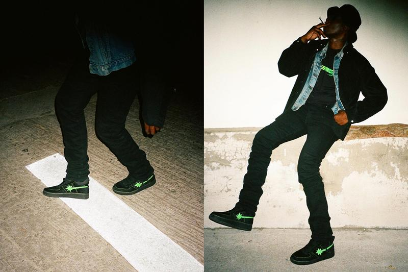Psychworld x Starwalk Nubian Pop-Up Capsule Lookbook shoes af1 air force 1 t-shirt design graphic neo green black
