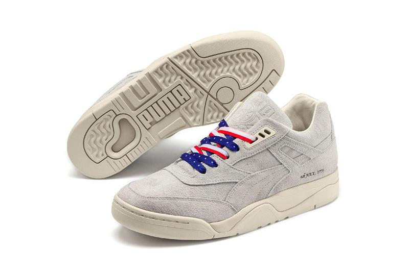 PUMA Palace Guard 4th of July Release Info 370597 Sneaker Drop Information United States of America Independence Day USA Suede Declaration Print US Flag Laces