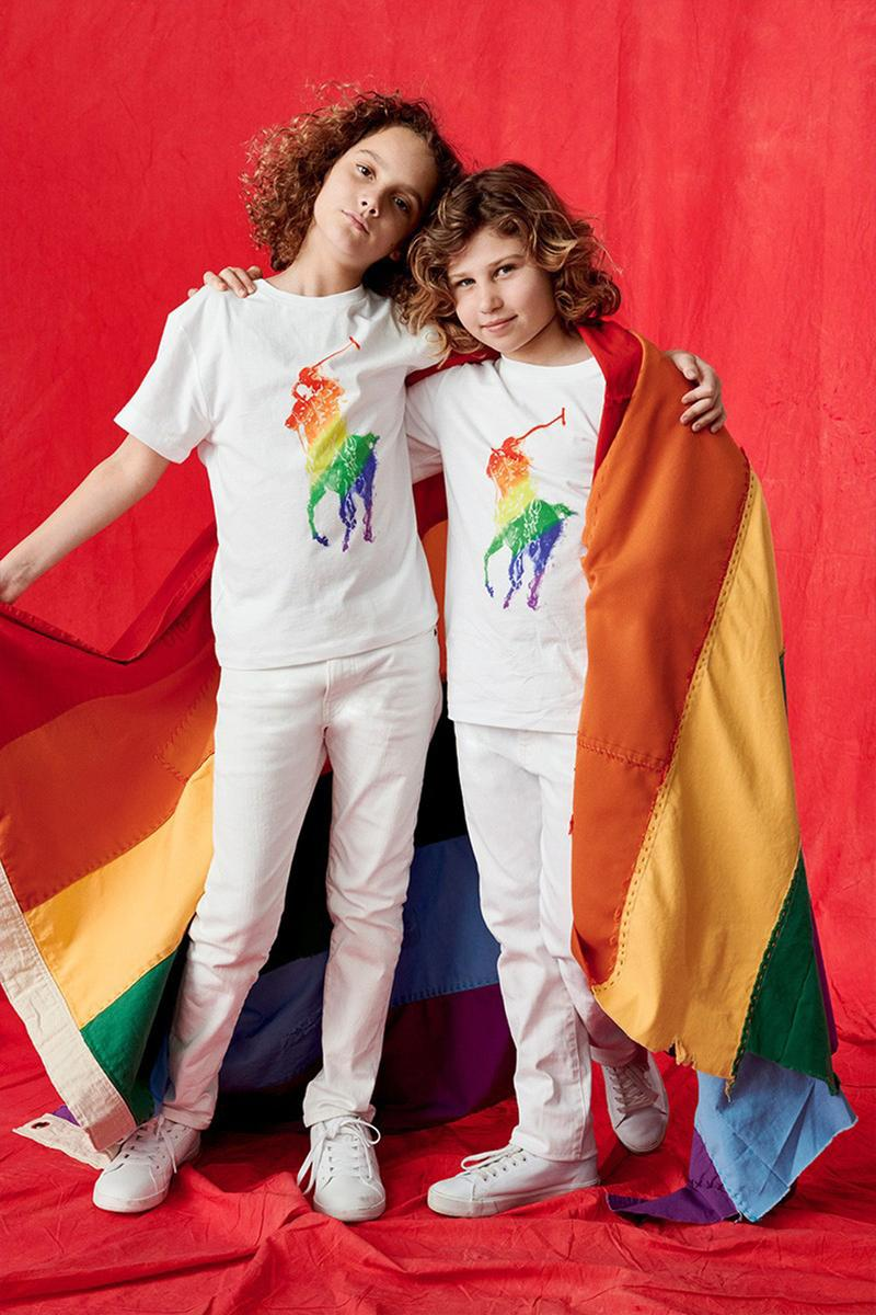 Ralph Lauren Pride Collection LGBTQQIAAP Inclusive Capsule Spring Summer 2019 SS19 Lookbook Rainbow Flag Logo Mens Womens Children Kids T-Shirts Sweatshirts Trousers Hoodies Polos Caps Hats Stonewall Community Foundation Charity Profits Jacob Bixenman Olympian Gus Kenworthy ballet dancer Harper Watters Evrisha Tyriq Cory queer youth group Hetrick-Martin Institute Cass Bird