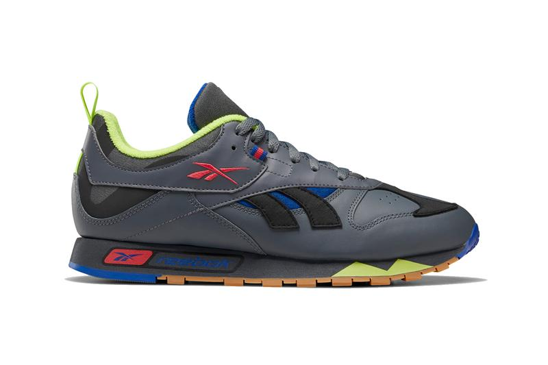 Reebok Classic Leather RC 1 0 1983 silhouette True Grey 7 Black Chalk Skull Grey White Regal Purple soft leather runner