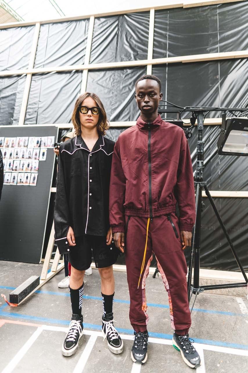 RHUDE spring summer 2020 collection runway paris fashion week 2019 mens runway collection backstage Rhuigi Villaseñor pfw ss20