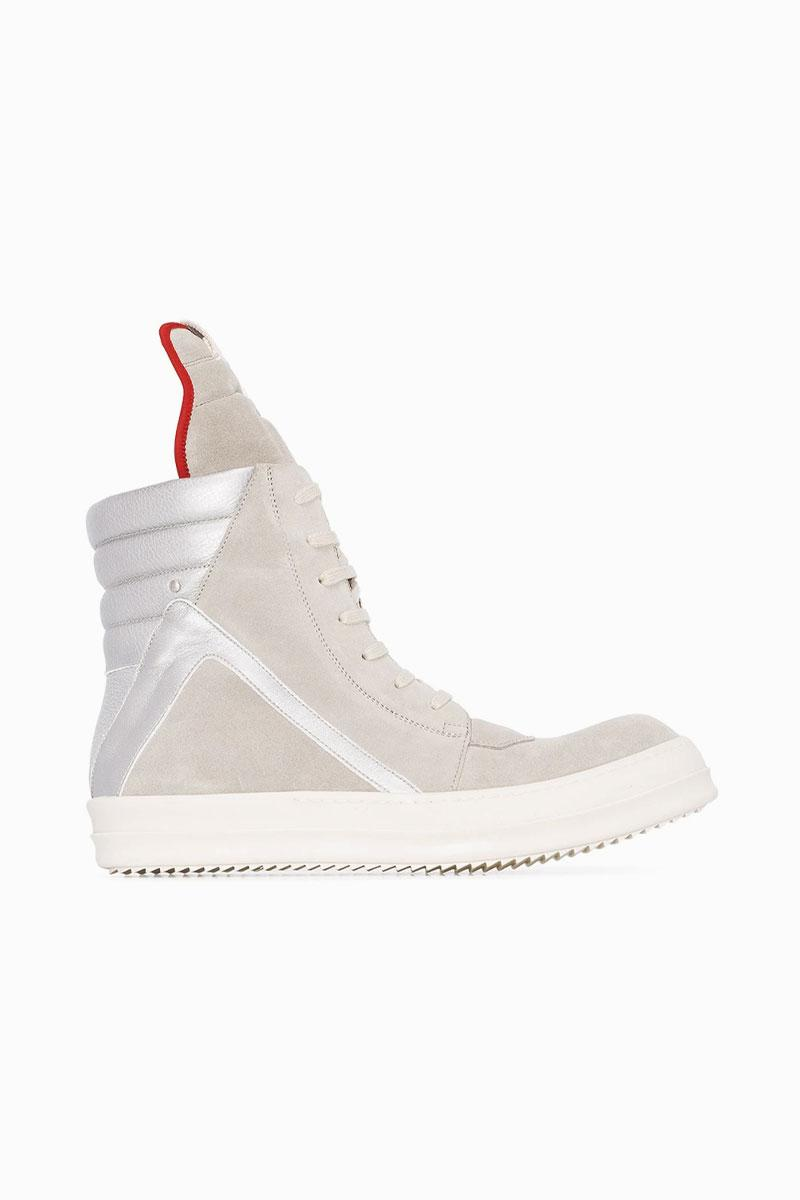 "Rick Owens' Geobasket High-Top Sneaker Receives a ""Ivory/Silver"" Makeover"