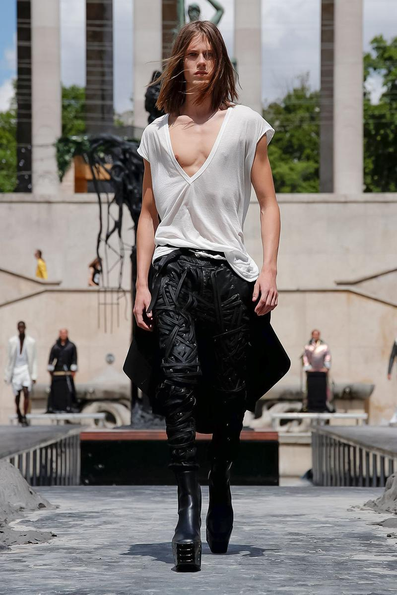 Rick Owens Spring/Summer 2020 Paris Fashion Week Men's SS20 Runway Collection Looks Tailoring Iridescent Coats Suits Streetwear Avant Garde