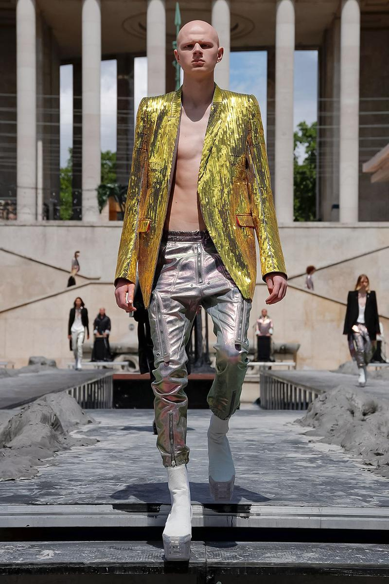 9e1e6b0a099 Rick Owens Spring/Summer 2020 Paris Fashion Week Men's SS20 Runway  Collection Looks Tailoring Iridescent