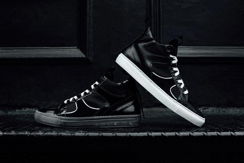 RtA Introduces a Duo of Luxury Sneakers black white leather mesh patent velour calf leather mesh translucent sole vitello grosgrain rayon ribbon la california los angeles