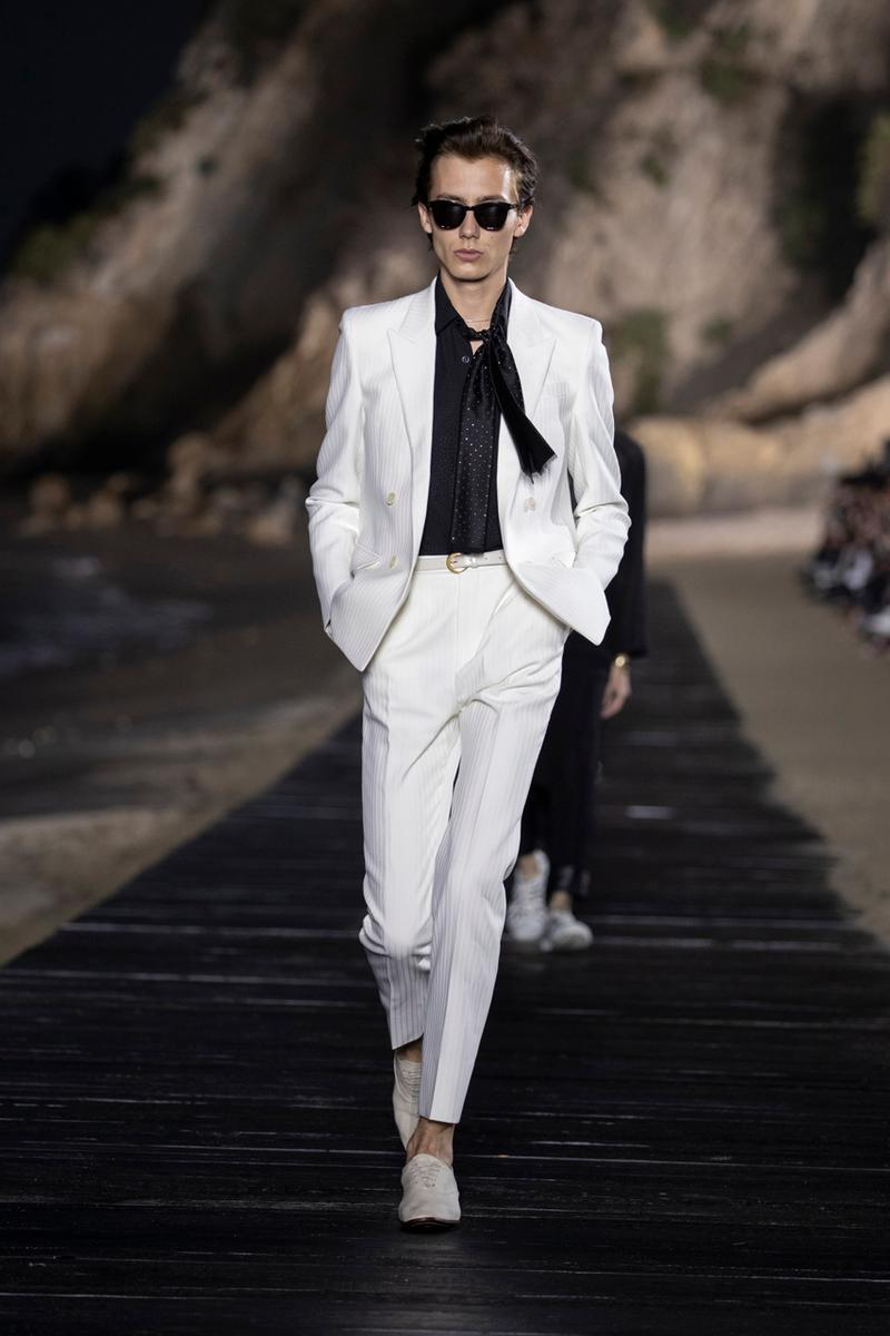Saint Laurent SS20 Delivers Billowing, Genderless Styling