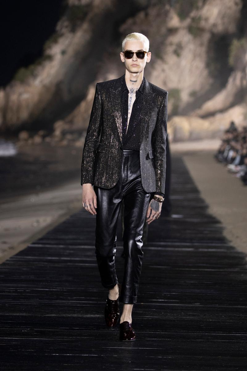 Saint Laurent Spring/Summer 2020 Collection runway ss20 fashion week presentation anthony vaccarello menswear