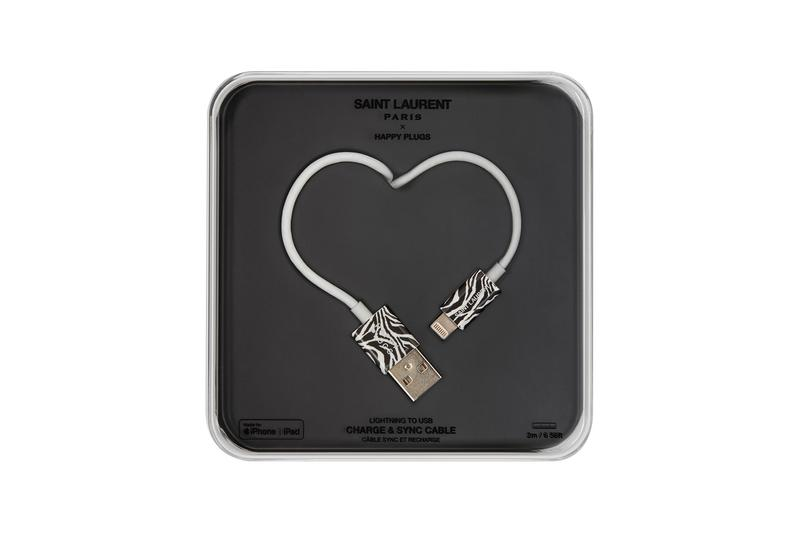 Saint Laurent YEVO Happy Plugs Earphones Charger Release Leopard Zebra Black Silver Gold