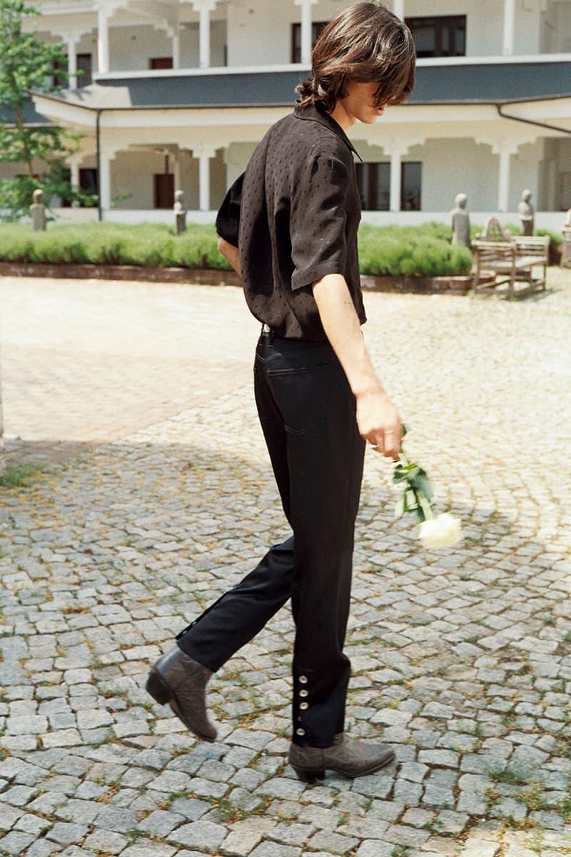 "Séfr Spring/Summer 2020 SS20 Collection Lookbook Mood Book ""White Fire"" Linus Morales Photographed Erik Rödstam Art Directed Modelled Matthias El Koulali Tailoring Jackets Trousers Suits Shirts"