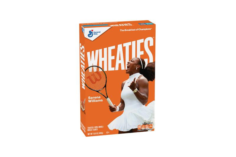 serena williams wheaties cereal box cover packaging general mills 2019 history black tennis player althea gibson