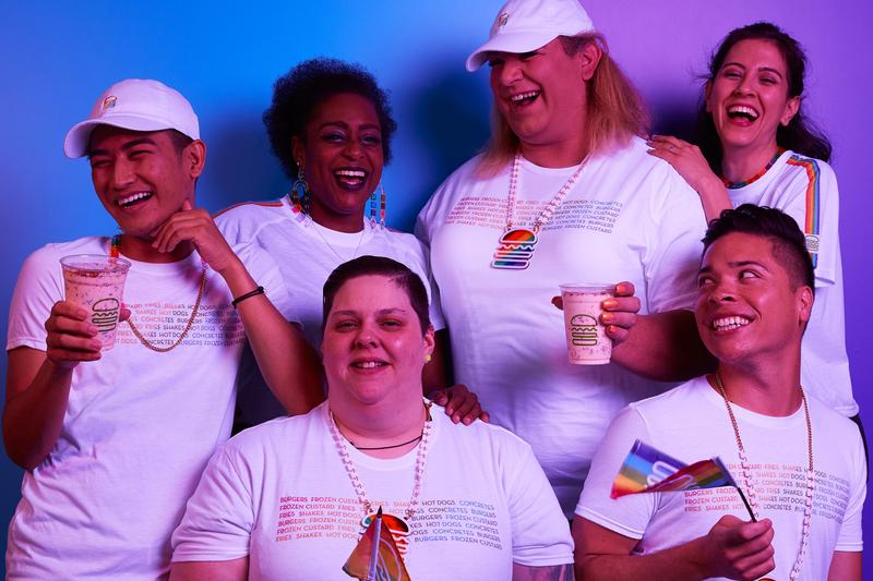 Shake Shack Releases Pride Shake & Merch limited edition milkshake t-shirts rainbow lgbqt pride month the trevor project