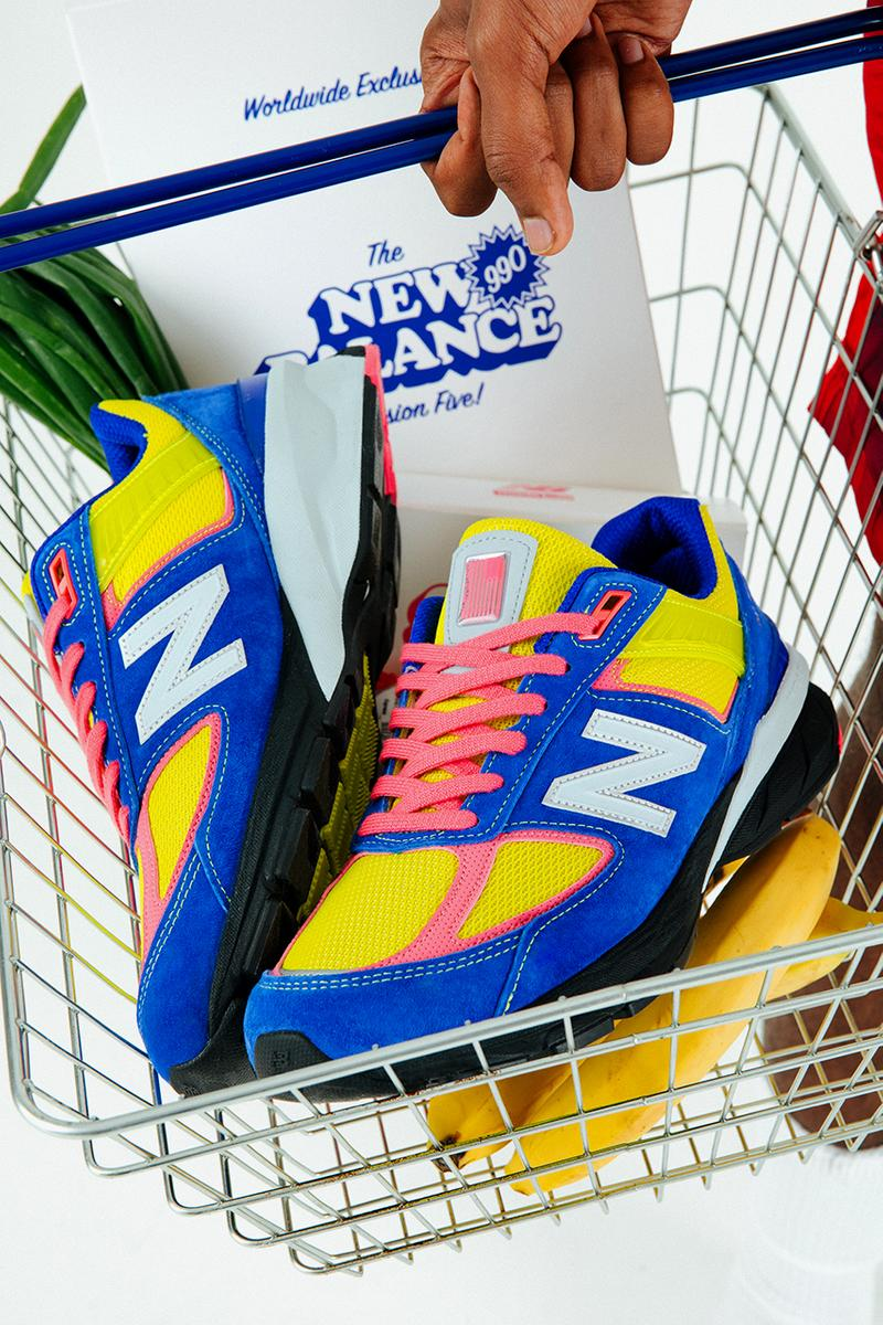 size uk new balance 990 990v5 first look release info royal blue yellow pink white reflective corner shop convenience store buy cop purchase order