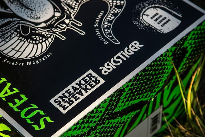 "Sneaker Freaker x ASICS Friends & Family GEL-LYTE III ""Neurotoxic"" collaborations special packaging"