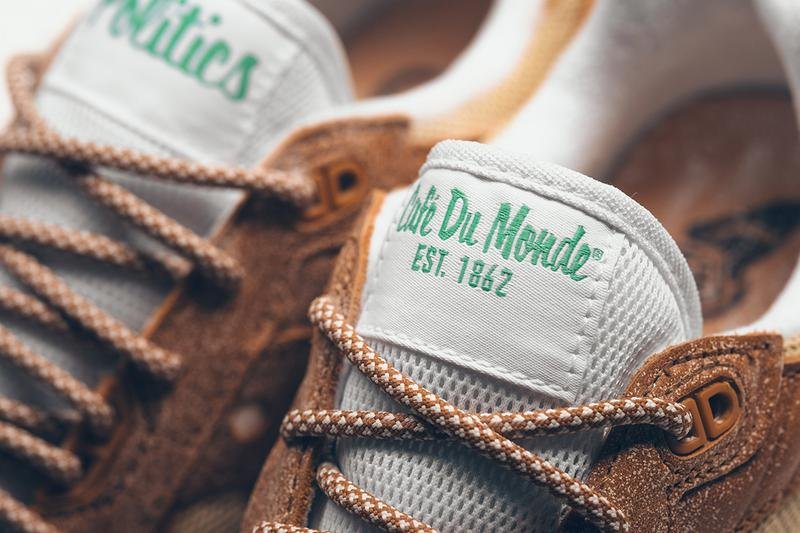 Sneaker Politics x Saucony x Café Du Monde Model sneaker new orleans heritage coffee donuts exclusive powdered sugar