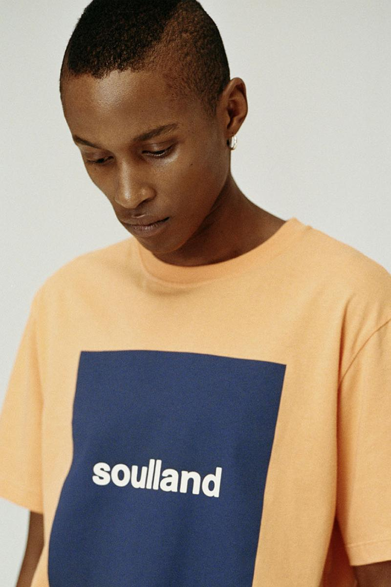 "Soulland ""Logic_041904"" Collection Spring Summer 2019 SS19 Lookbook Drop Social Awareness Fully Sustainable Clothing Working Conditions Ethical Organic Cotton Re-Interpreted Staples T-Shirts Sweatshirts Hoodies Pants Trosuers"
