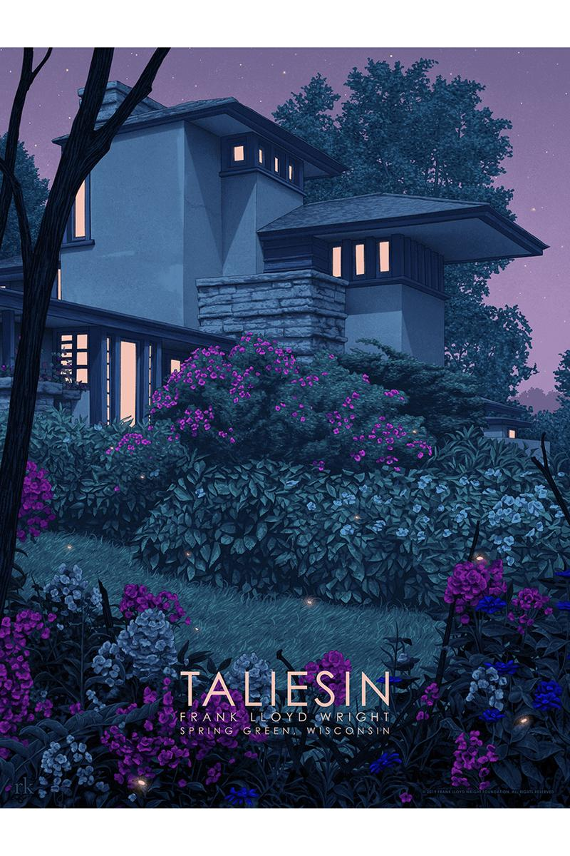 spoke art gallery frank lloyd wright pop up show popup Timeless travel posters 1930s 30s Taliesin West 12345 North Taliesin DriveS cottsdale Arizona Hashimoto Contemporary new york homes architect architecture buildings design