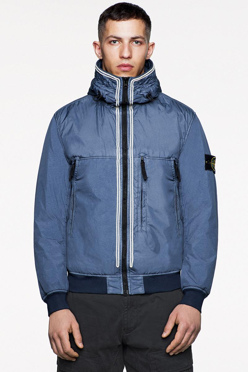 Stone Island FW19 Icon Imagery Lookbook Fall/Winter 2019 outerwear lifestyle formal military special fabrics dye treatment multi-colored ghost jackets vests sweaters knits
