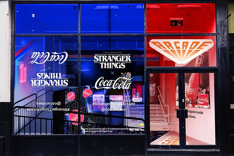 Stranger Things 3 Coca-Cola London Pop-Up Arcade Experience Upside Down World Shoreditch East London Limited Edition Coke Can Hawkins 1985