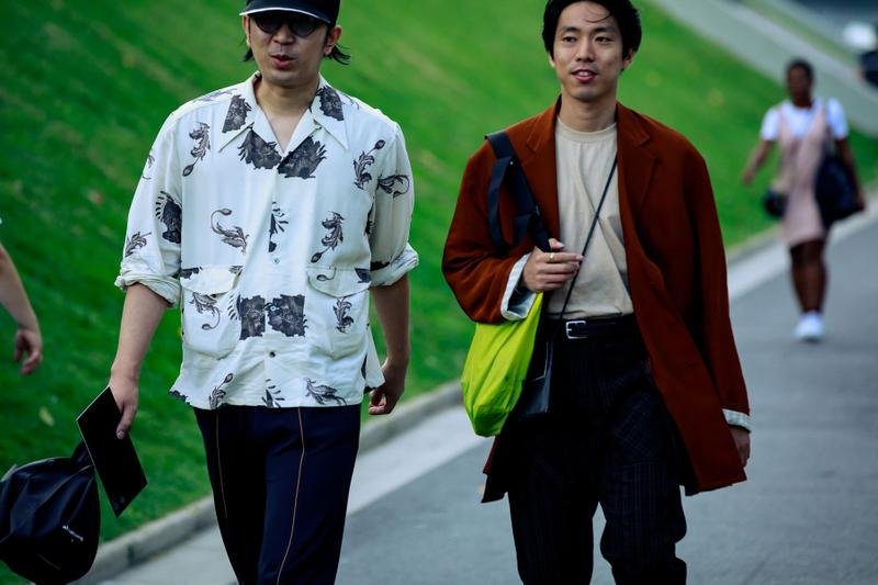 "Paris Fashion Week SS20 Streetstyle streety style streetsnaps Takashi Murakami spring summer 2020 Cherry Fukuoka Creative Director Takeshi ""Cherry"" Ishida off white virgil abloh"