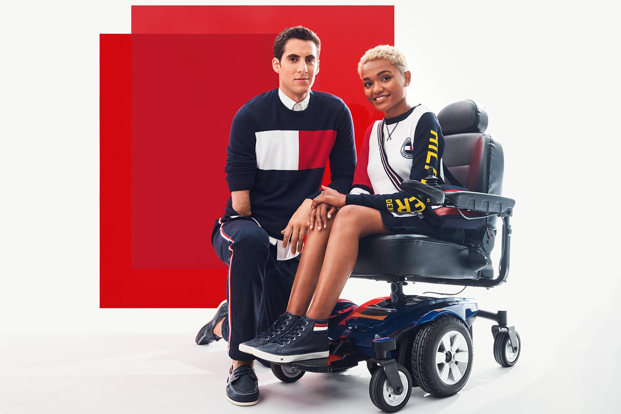 fashion adaptive style for people with disabilities accessible clothing tommy hilfiger adaptive pyer moss chromat mama cax amputee quemuel arroyo jourdie godley east west style asos
