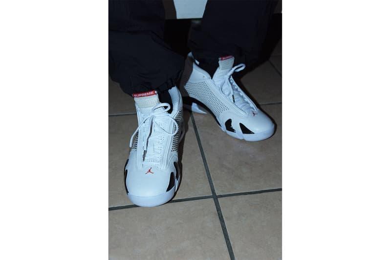Supreme Air Jordan XIV 14 Official Look black blue White Michael Jordan Release Info Date Price