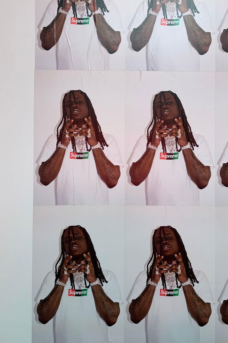 Chief Keef Models New Supreme Box Logo at MCA supreme new york shirts rap trap drill fashion streetwear Bogo