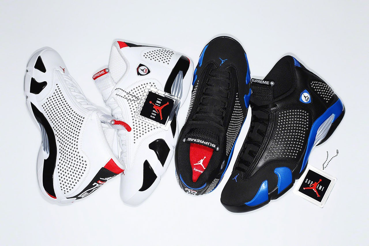 Supreme x Air Jordan 14 Pack Releases on SNKRS