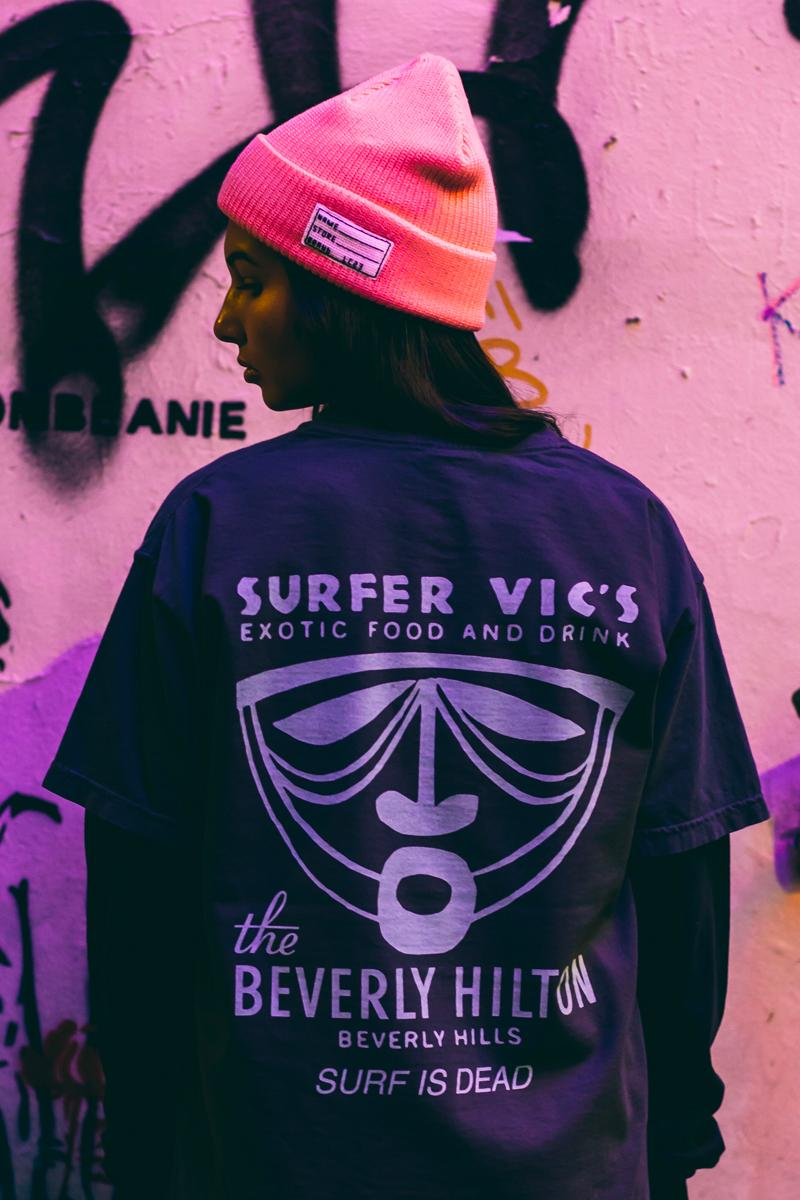 Surf Is Dead Wave 8 Collection Paris Streetwear Wave 7 vivid bold t-shirt graphics hoodie long-sleeve pants sweats