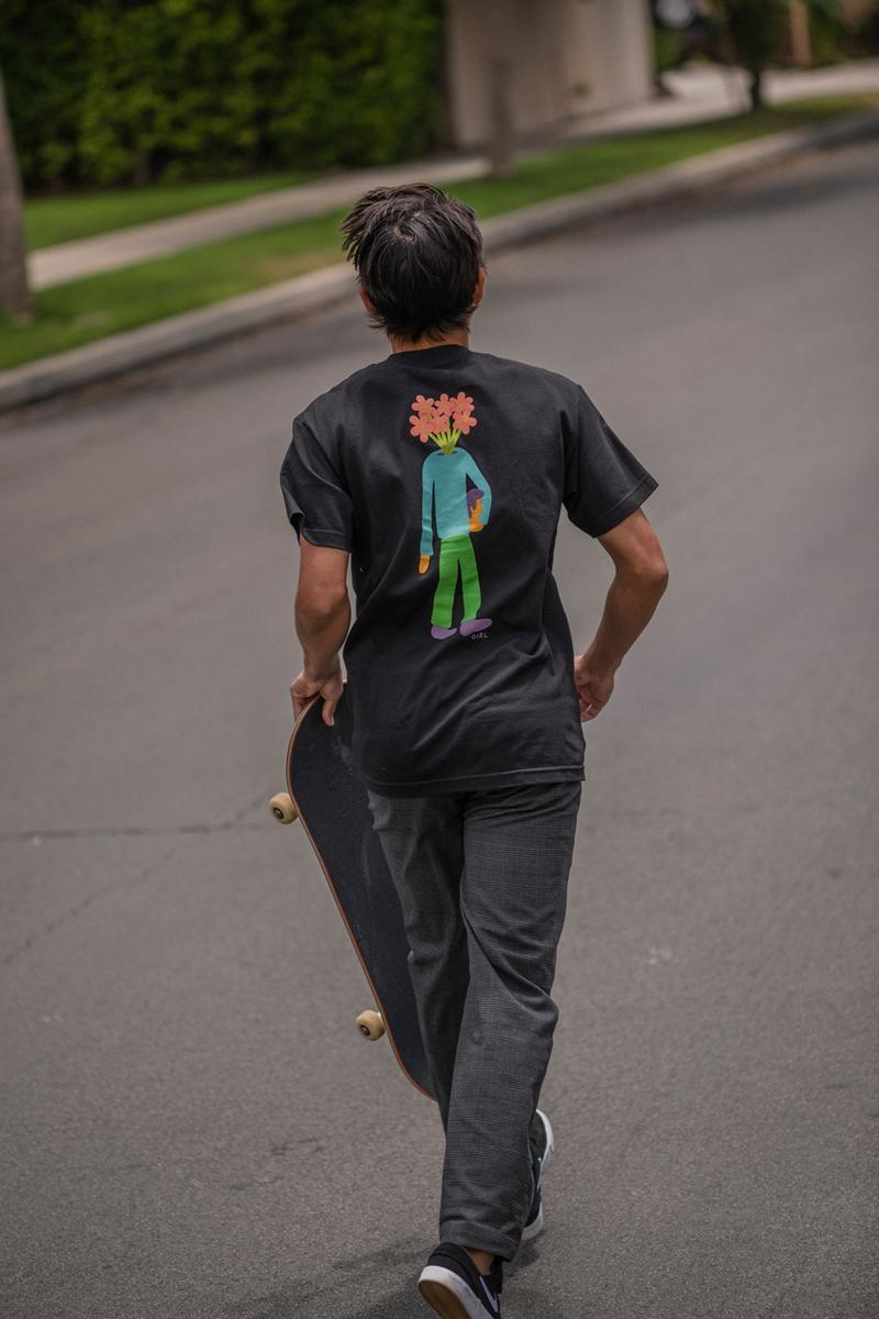 Lahan x Girl Skateboards SS19 Collection Lookbook skateboard mountain dew art illustrator