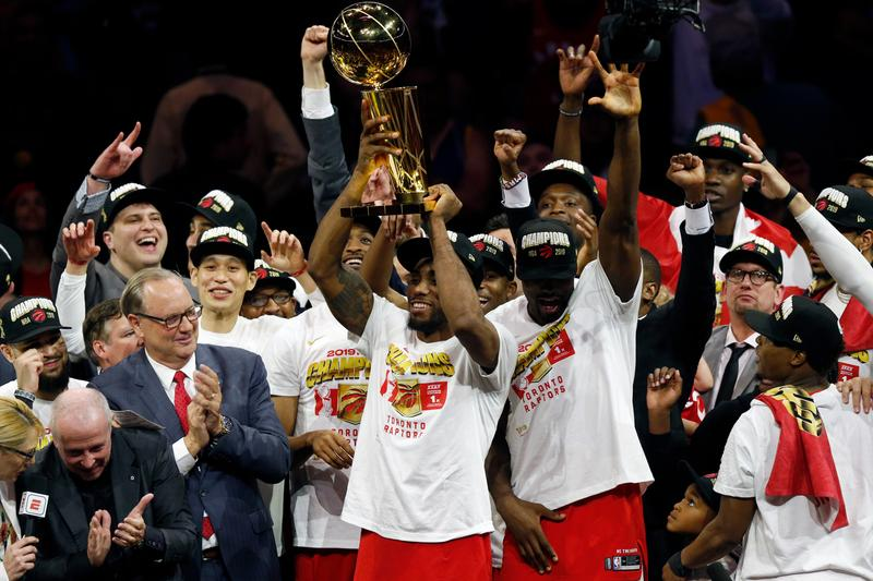 Image result for images of Toronto Raptors win their first ever NBA championship with Game 6 victory over Golden State Warriors