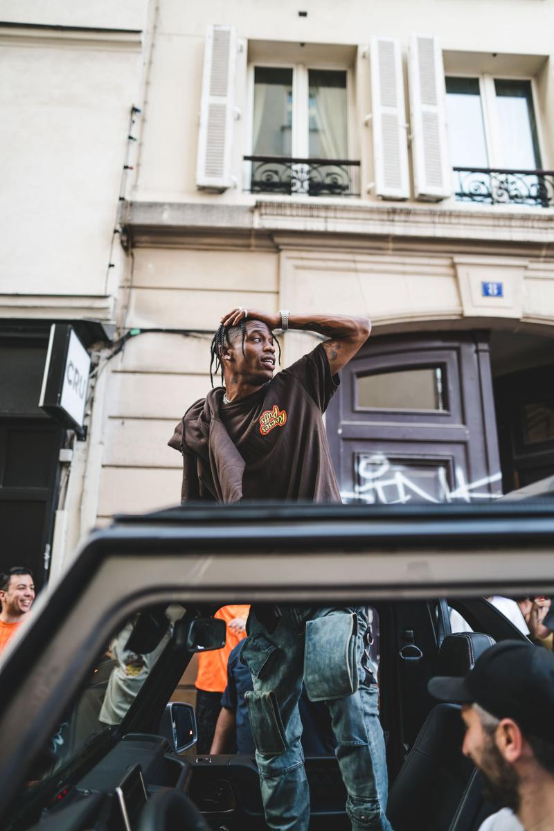 Travis Scott Entertains the Masses at His Reese's Puffs Pop-Up in Paris