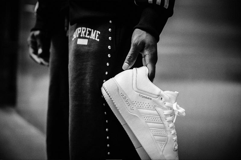 Tyshawn Jones First Pro model Signature Shoe triple white supreme sneaker skate skateboarding
