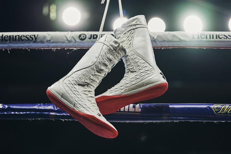 Under Armour Anthony Joshua New material Auxetic Boxing Boot Project Chameleon andy ruiz jr new york june 1 2019 madison square garden msg fight