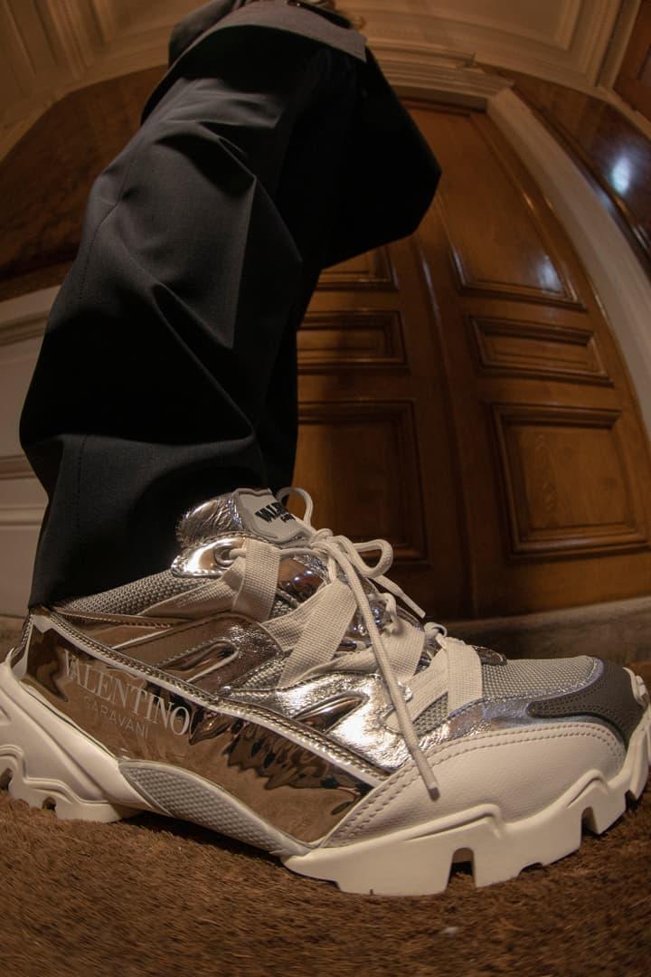 Valentino Garavani Climbers Sneaker Launch Editorial lookbook on feet colorways June 13 2019