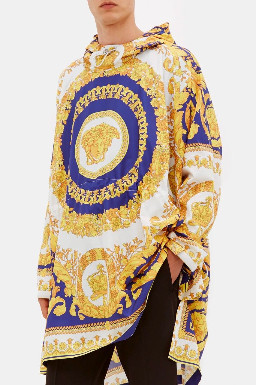 Versace Baroque Print Technical Poncho Release Info Hypebeast