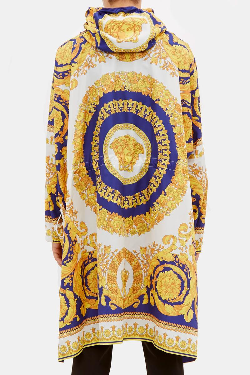 Versace Baroque-Print Technical Poncho Release Info medusa head matchesfashion.com overcoats jackets ponchos drop date price