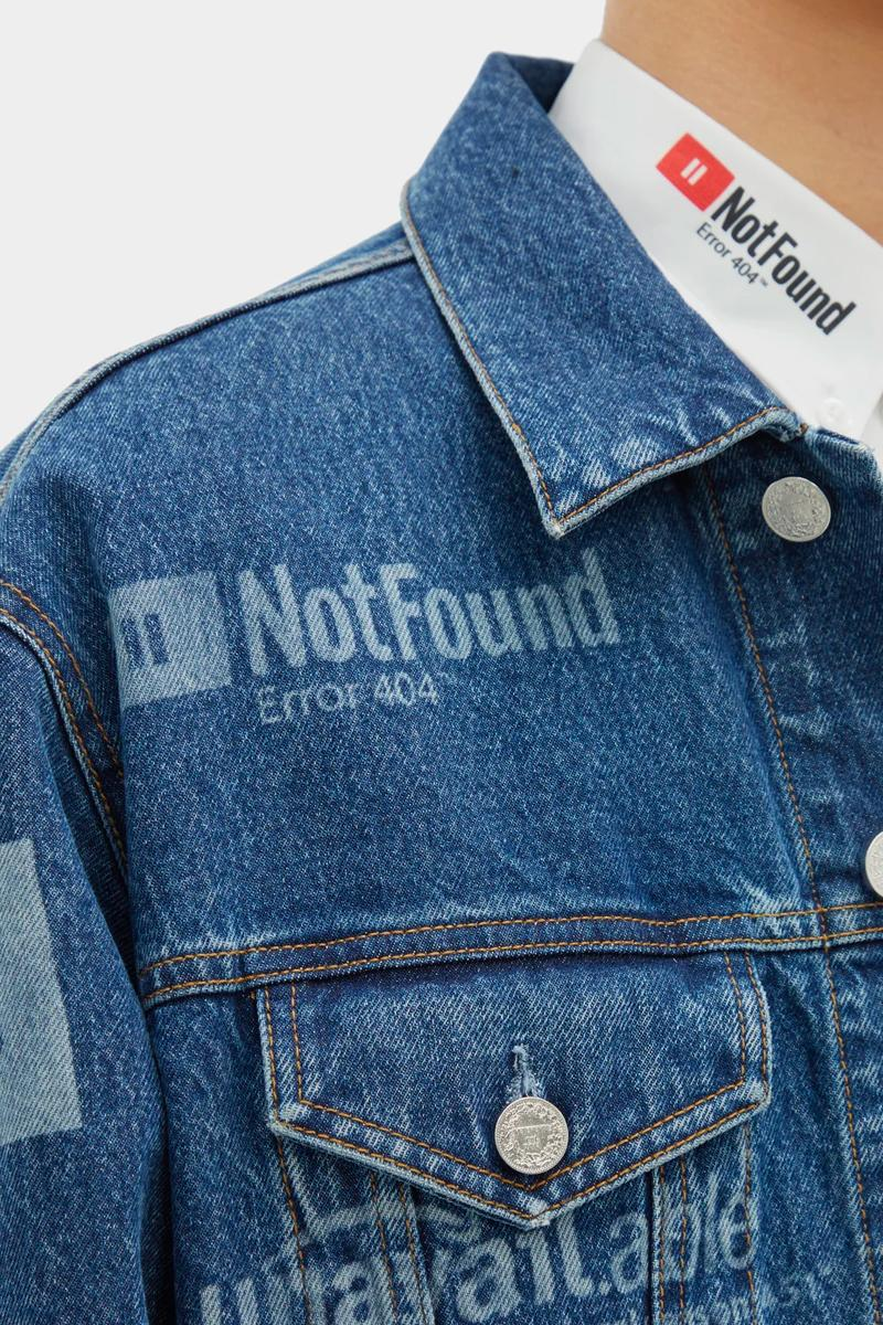 Vetements Error-Print Denim Jacket Jeans Release Blue 2019 Spring Summer