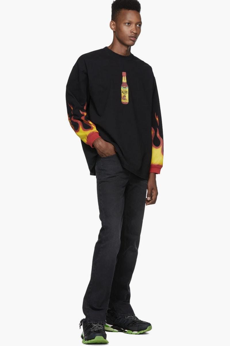 ddbbc638 Vetements Hot Sauce T-Shirt Release | HYPEBEAST