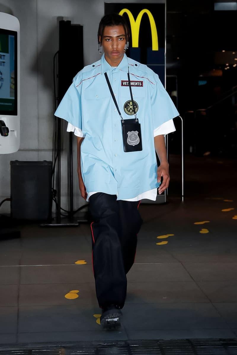 Mcdonalds New Uniform 2020 Vetements Spring/Summer 2020 Runway Collection | HYPEBEAST