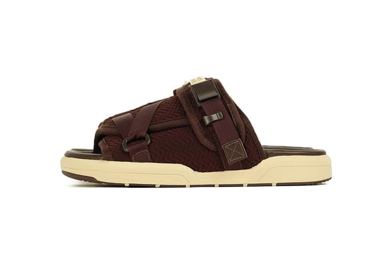 visvim drops Christo Sandal in Black & Brown Colorways release info price 0119301001002 dk.brown lt.brown sizes buy now Hiroki Nakamura F.I.L. Exclusives