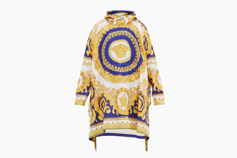 Versace Baroque-Print Technical Poncho release where to buy price 2019