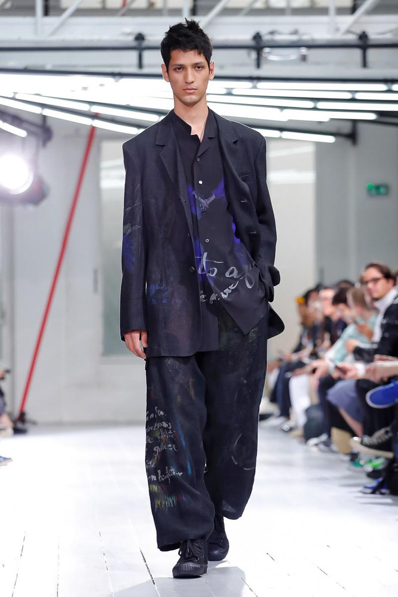 Yohji Yamamoto Spring/Summer 2020 Men's Runway show presentation paris fashion week collection pfw ss20