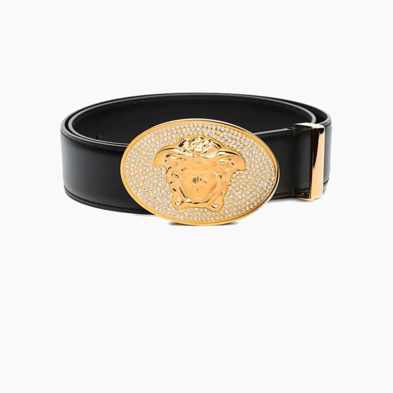 Versace Medusa Crystal-Embellished Belt