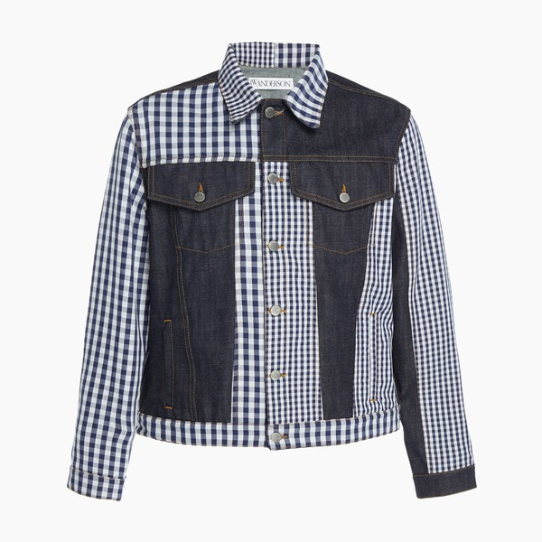JW Anderson Patchwork Gingham Denim Jacket
