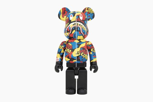 "Medicom Toy BE@RBRICK ""Camo Shark"" 100%, 400% & 1000%"