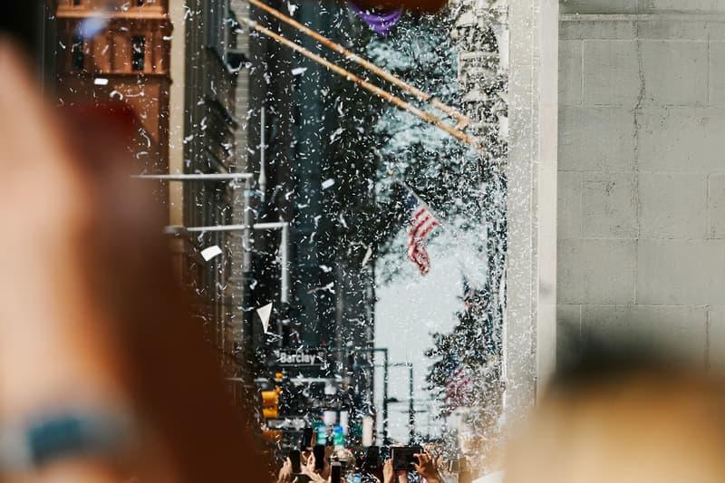 2019 USWNT fifa World Cup Championship ticker tape Parade NYC Photo Recap new york city united states of america womens national team soccer football float Megan Rapinoe morgan team photos mayor Bill de Blasio