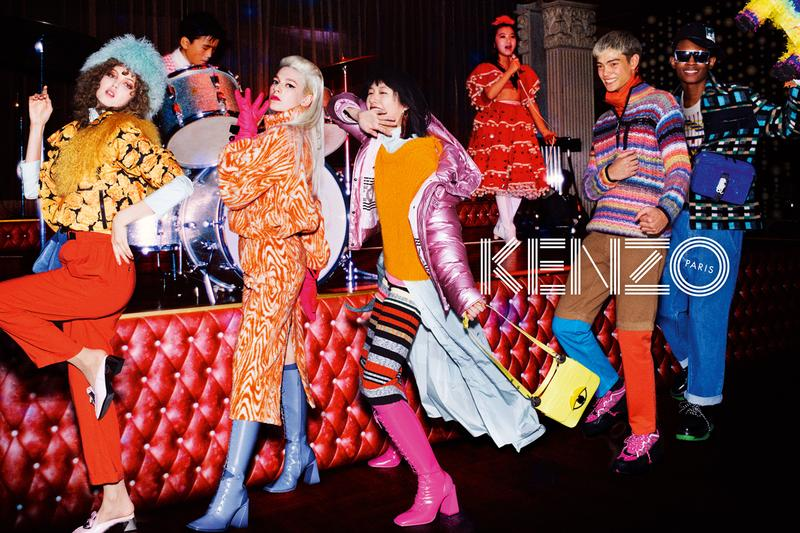kenzo fall winter 2019 campaign images shot by david lachapelle hunter schafer lindsay wixson kiko arai geron nord jabali sandiford